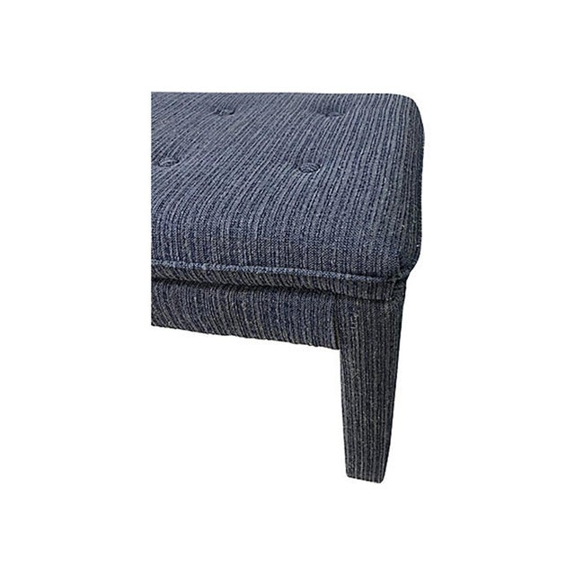 Mid 20th Century Mid 20th Century Blue Tweed Ottomans - a Pair For Sale - Image 5 of 7