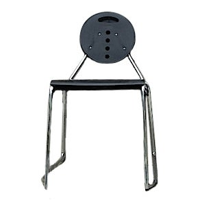 Bimbi Gioacchini Charlie Black Stacking Chair For Sale