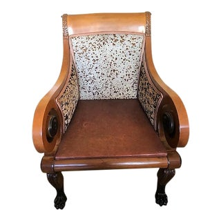 Old Hickory Distressed Leather Chairs - a Pair