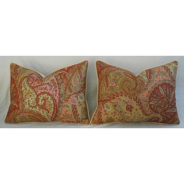 Designer Brunschwig & Fils Paisley Pillows - Pair - Image 3 of 9