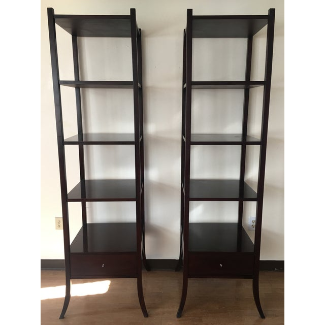 Barbara barry for baker furniture etagere shelves a pair chairish i have two matching gorgeous baker furniture etageres for sale designed by famous designer barbara solutioingenieria