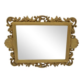 Vintage Homco Hollywood Regency Shell Mirror