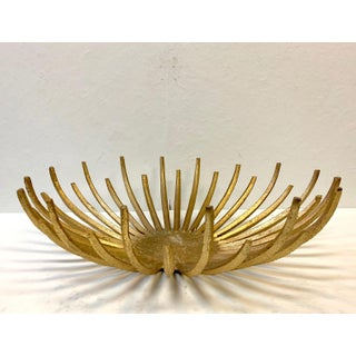 Mid 20th Century Brutalist Goldtone Fruit Dish Preview