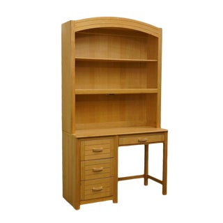 Late 20th Century Vintage Lexington Academy Blonde Student Desk & Hutch For Sale