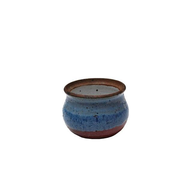 Vintage Blue Ceramic Dish - Image 3 of 4