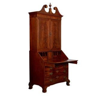 18th Century American Chippendale Mahogany Bookcase Over Secretary Desk Preview