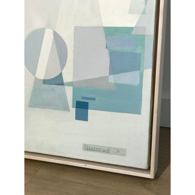 Original Mid Century German Cubist Painting, Signed by Artist 1971 For Sale - Image 10 of 13