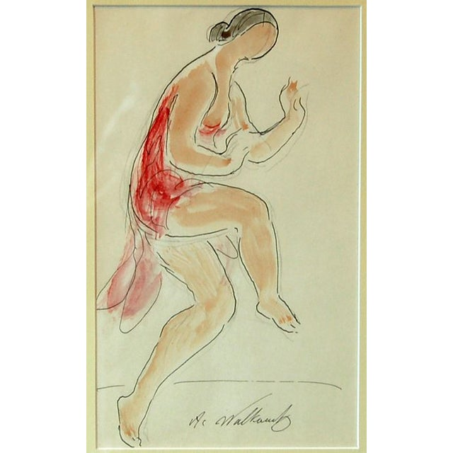 Abraham Walkowitz - Isadora Duncan (Red) For Sale