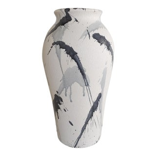 Vintage 1980s Harris Potteries Abstract Splatters Vase For Sale