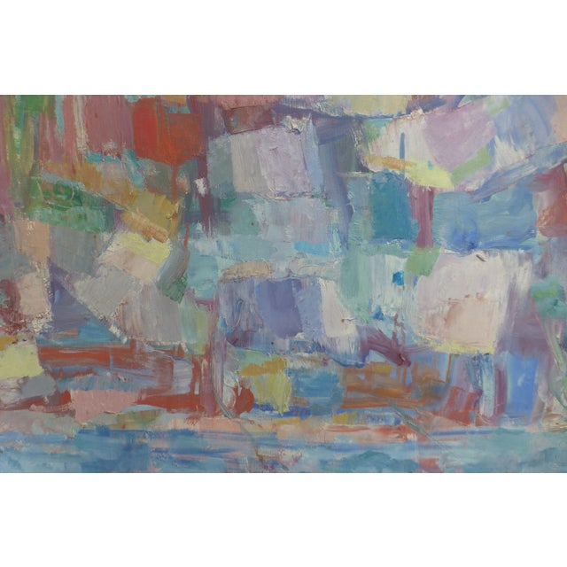 Signed Abstract Oil Painting by Jean Gunther, Listed Artist - Image 6 of 13
