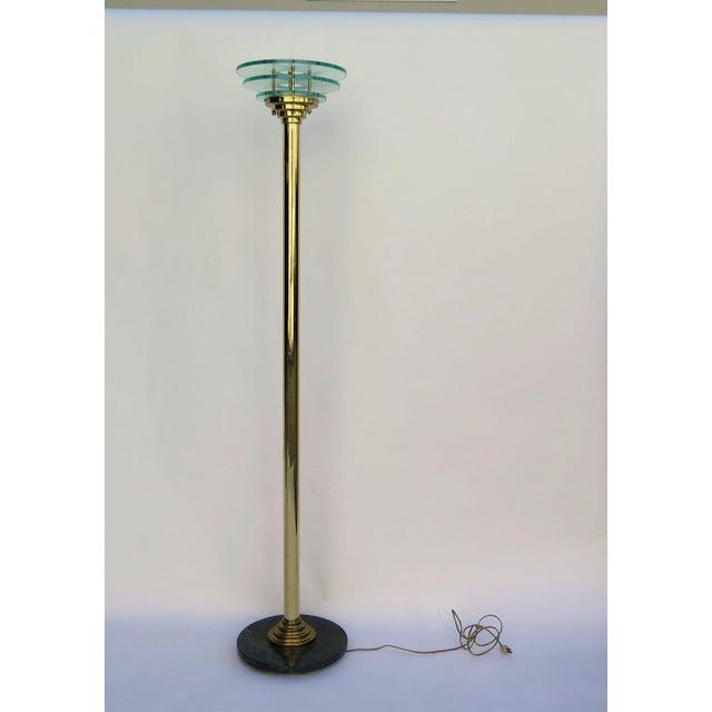 1980s 1980s Art Deco Revival Floor Lamp For Sale - Image 5 of 5