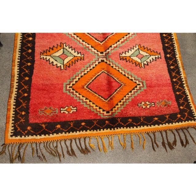 Vintage Moroccan Tribal Rug Runner Matisse Style For Sale - Image 4 of 7
