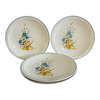 Vintage 1980s Ming Pao Mip2 Floral Design Dinner Plates - Set of 4 For Sale