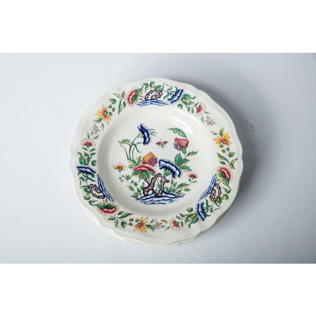 De Sarreguemines Madcap Cottage Chinoiserie Floral Soup Bowls, S/4 For Sale - Image 4 of 4