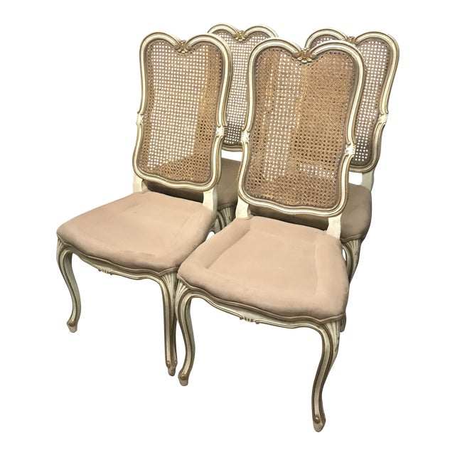 Vintage Mid Century Louis XV French Chairs- Set of 4 For Sale