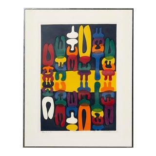 Mitsuaki Sora Modern Abstract Woodblock Print For Sale
