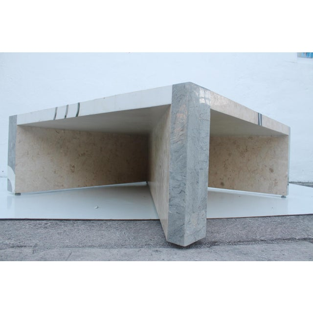 Maitland Smith Tessellated Stone Square Coffee Table - Image 3 of 11