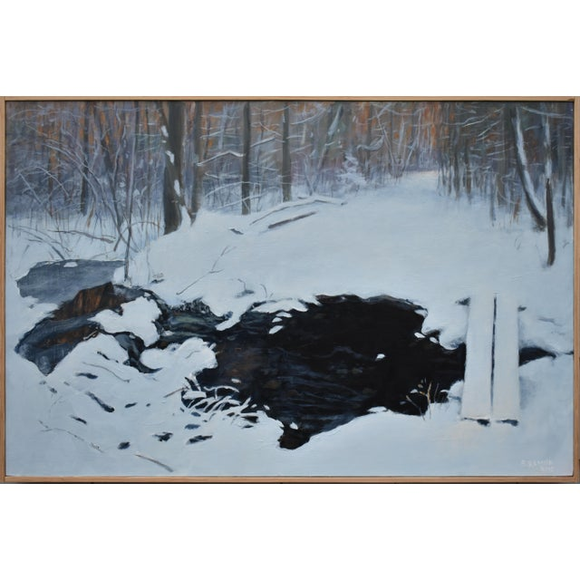 """Stephen Remick """"Crossing Destruction Brook"""" Contemporary Painting For Sale - Image 12 of 12"""
