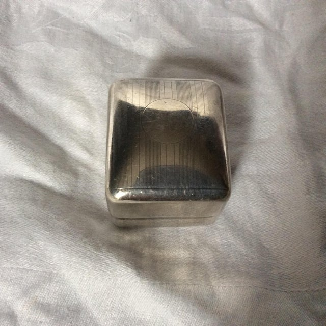 Art Deco Sterling Ring Box For Sale - Image 5 of 5