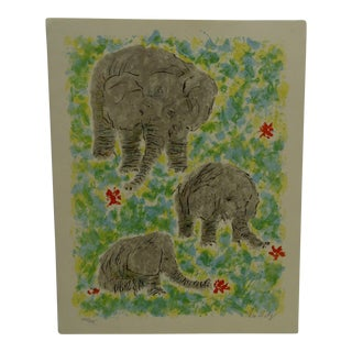 "Linn Estey Limited Edition ""Elephants"" Signed Numbered (242/275) Print"