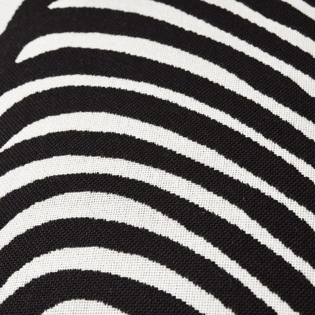 Early 21st Century Schumacher Zebra Palm Indoor/Outdoor Pillow in Black For Sale - Image 5 of 7