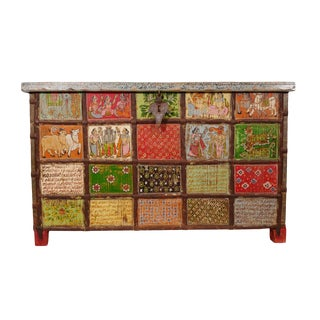 Rajasthan Painted Dowry Trunk For Sale