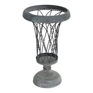 French Wire Urn Centerpiece For Sale