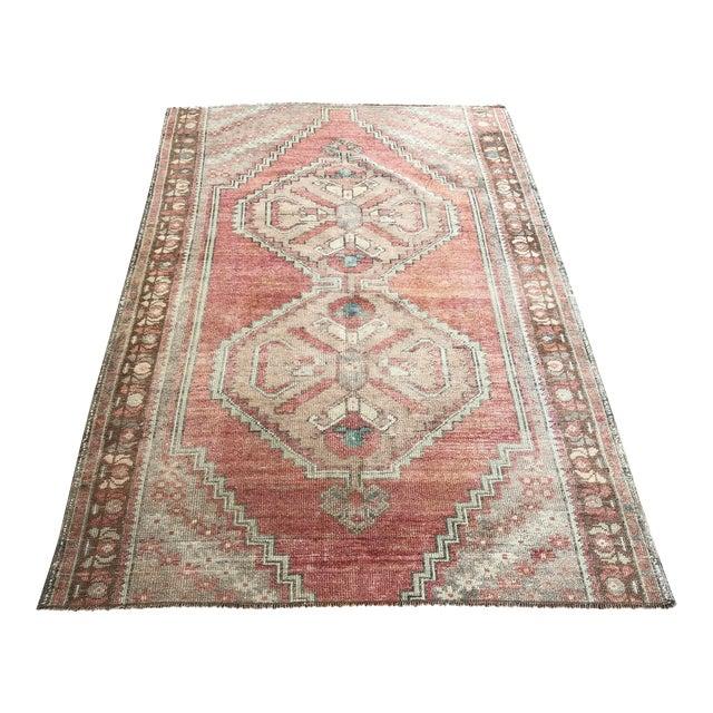 Oushak Handmade Distressed Antique Floor Carpet For Sale