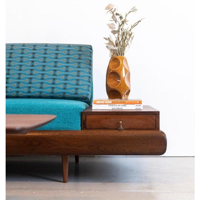 Mid-Century Modern Mid-Century Modern Adrian Pearsall Sofa in Josef Hoffmann Maharam Peacock Upholstery For Sale - Image 3 of 8