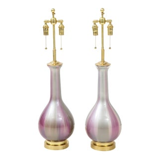 1960s Iridescent Lamps by Frederick Cooper - a Pair For Sale