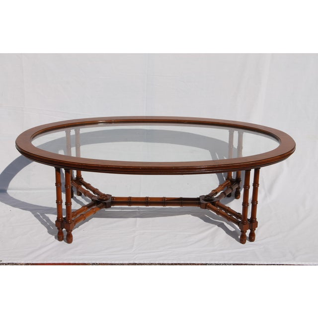 1960's Mid-Century Faux Bamboo Coffee - Image 2 of 11