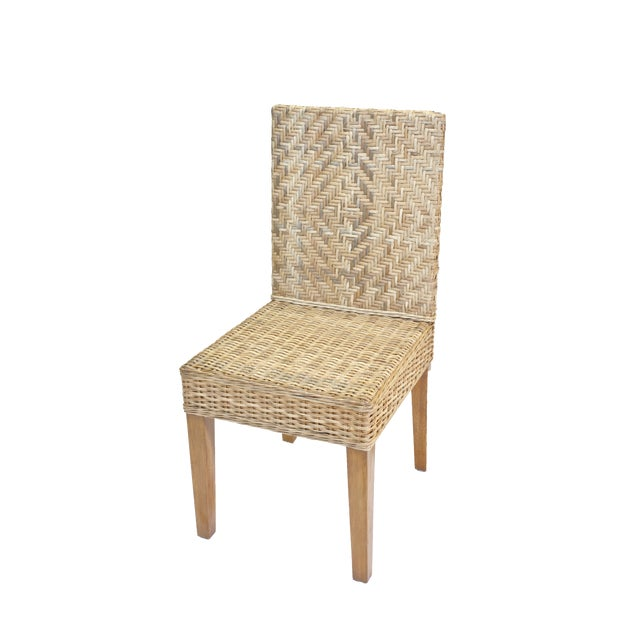 Coastal Boca Dining Chair, Natural For Sale - Image 3 of 3