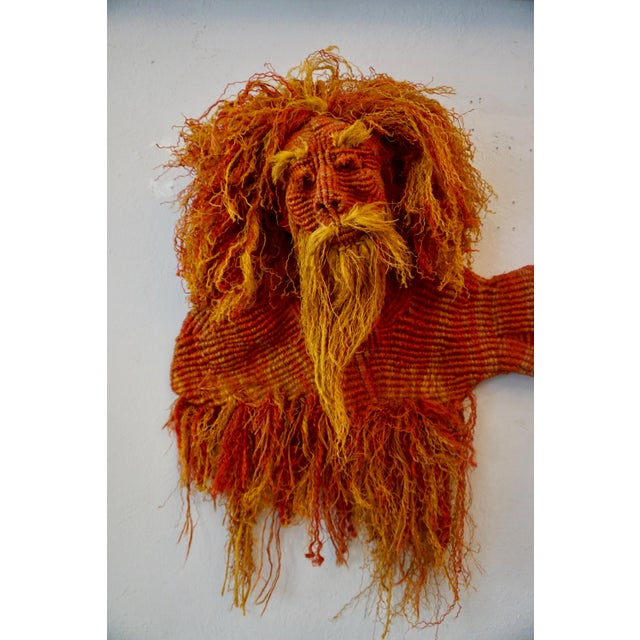 1980s 1980s Mid-Century Modern Handwoven Macrame Wall Hanging by Judee Du Bourdieu For Sale - Image 5 of 7