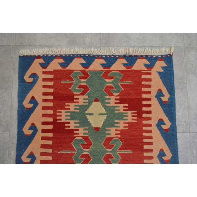 "New Turkish Hand Woven Oushak Rug - 2'11"" X 3'10"" - Image 4 of 6"