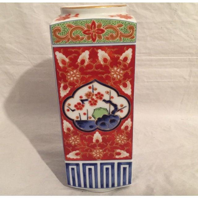 Ceramic Contemporary Japanese Imari Porcelain Column Vase For Sale - Image 7 of 7