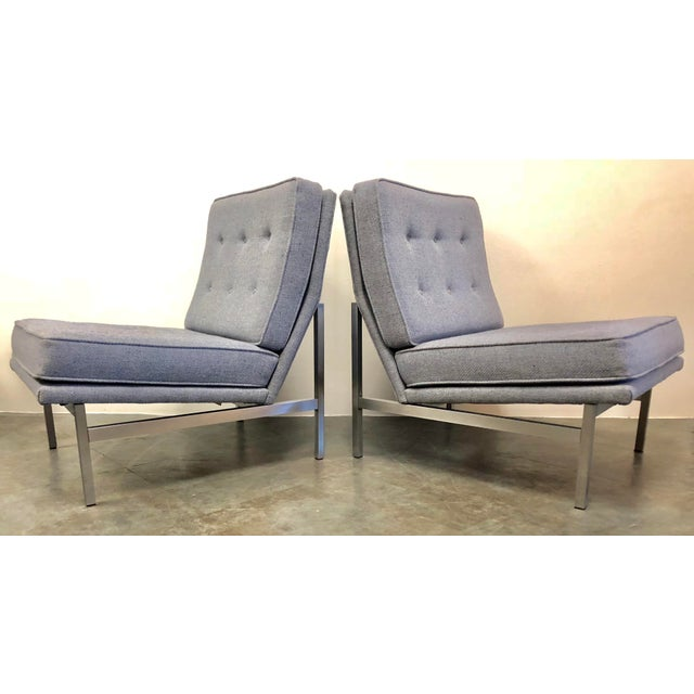 H. G. Knoll and Associates Early Florence Knoll Designed Slipper Chairs - a Pair For Sale - Image 4 of 13
