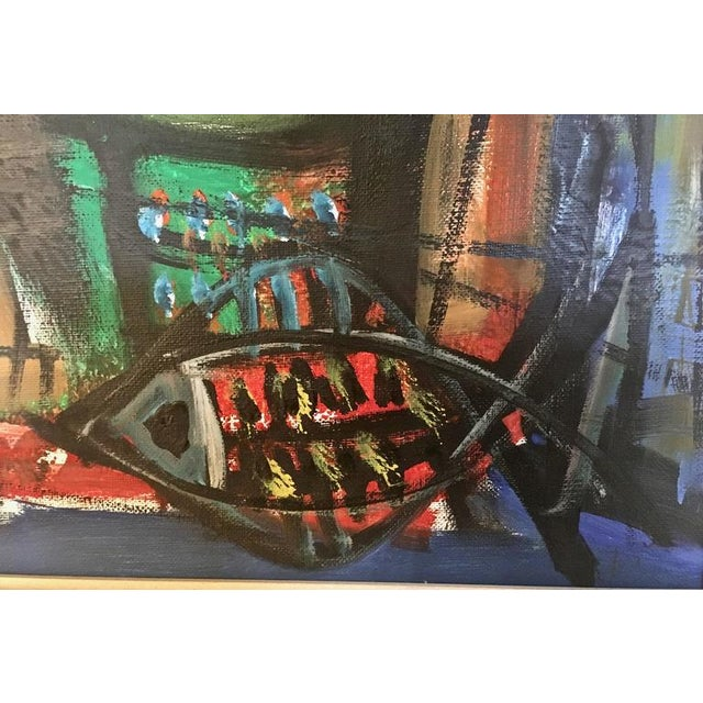 Loius Zelig Mid-Century Modern Painting For Sale - Image 5 of 10