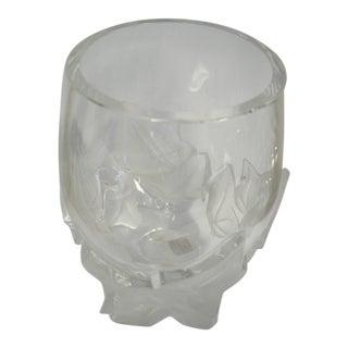 Lalique Crystal Lierre Ivy Vase For Sale