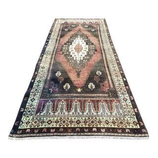 "1960s Vintage Turkish Anatolian Handmade Rug-3'7'x9'3"" For Sale"
