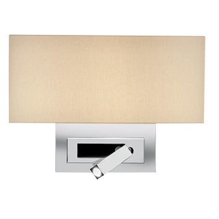 Polished Chrome Wall Light With Led Docking For Sale