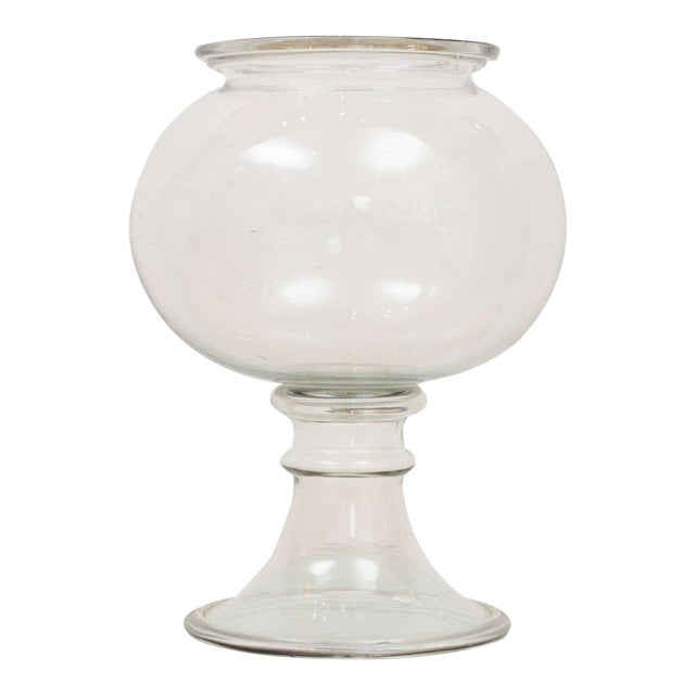 1800s Flint Glass Fishbowl For Sale