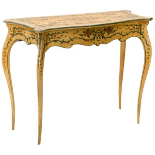 19th Century Hand Painted Console Table For Sale