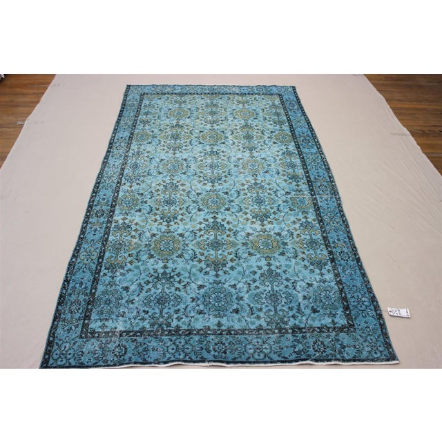 Turquoise Over-Dyed Rug - 5′5″ × 9'8″ - Image 2 of 10
