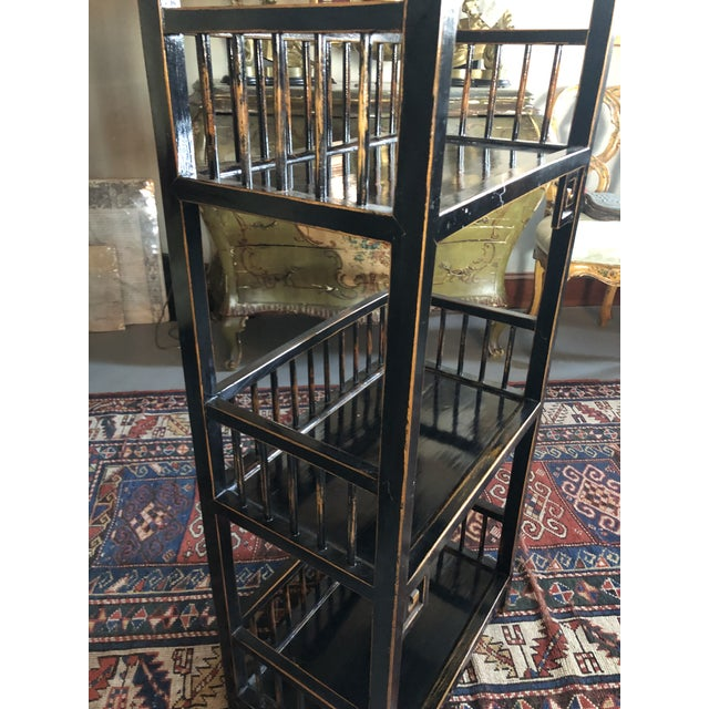 20th Century Asian Inspired Chippendale Style Etagere For Sale - Image 10 of 12