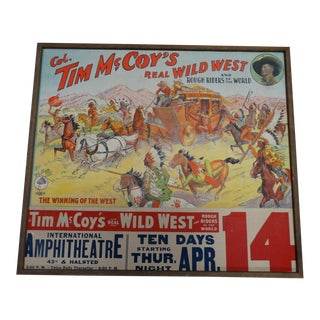 Vintage Americana Tim McCoy's Real Wild West Poster For Sale