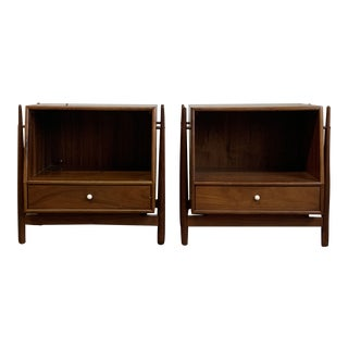 1960s Kipp Stewart for Drexel Declaration Floating Nightstands-a Pair For Sale