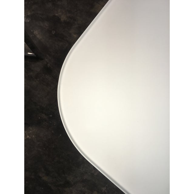 Carrara Marble Tonin Casa Large Italian Glass Top Table With Wood Base For Sale - Image 7 of 8