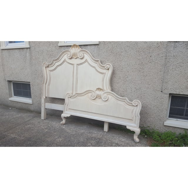 Victorian Ivory Queen Bed Frame - Image 7 of 7