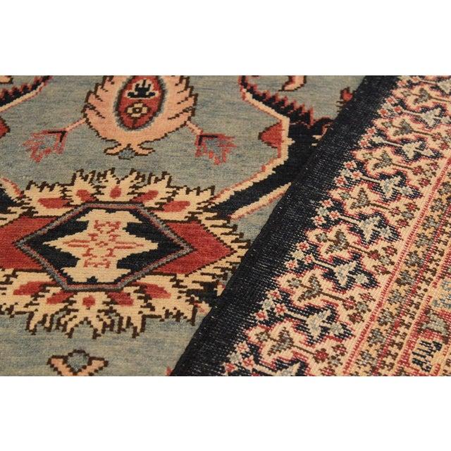 Textile Kafkaz Peshawar Desire Lt. Blue/Blue Hand-Knotted Rug - 8'10 X 11'8 For Sale - Image 7 of 8