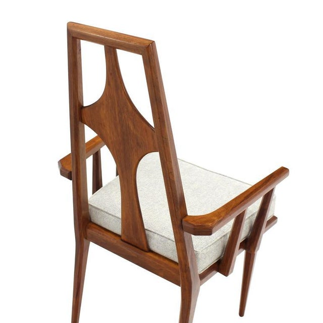 Textile Set of Six Swedish Dining Chairs New Upholstery For Sale - Image 7 of 10